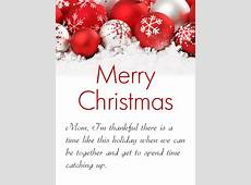 Gorgeous Christmas Ornaments Cards for Mother Birthday