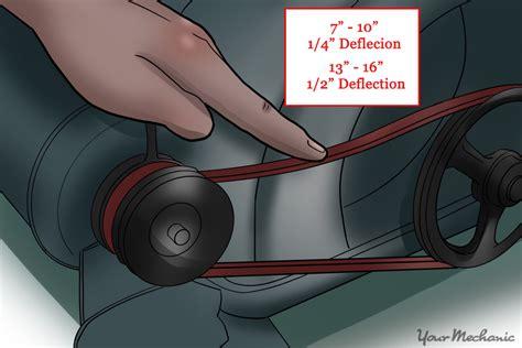 tighten  drive belt yourmechanic advice