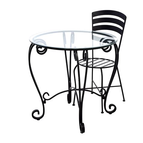 wrought iron and glass dining table 71 off wrought iron round glass top breakfast table