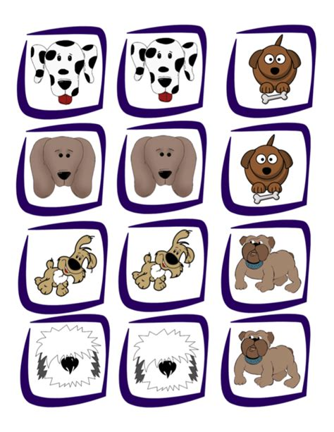 memory with free printable cards pets study 969 | ba8177921aca809d32f2be266a955e7f