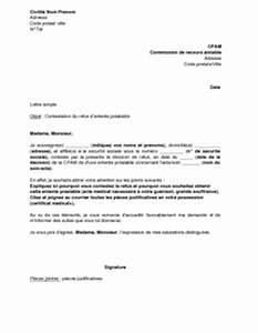 Contestation Fourriere Remboursement : lettre de contestation du refus d 39 entente pr alable par la cpam mod le de lettre gratuit ~ Gottalentnigeria.com Avis de Voitures