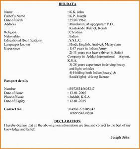 11 job application letter with biodata ledger paper With biodata format for job application