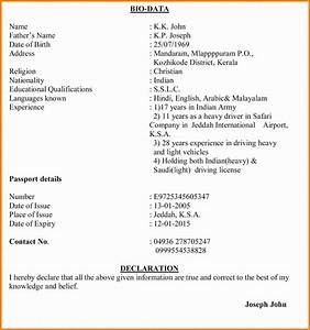 11 job application letter with biodata ledger paper With biodata covering letter format