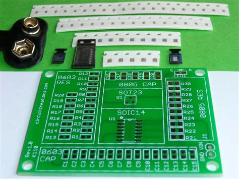 Smd Smt Electronic Component Practice Kit Diy Training