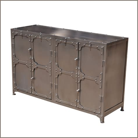 Metal Sideboards by Industrial Wrought Iron Metal Dining Room Door Buffet