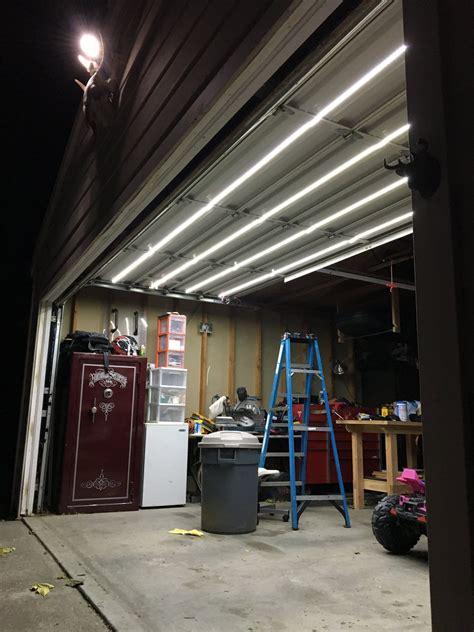 double track garage door lighting system garage door