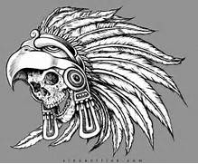 Aztec Warrior Skull Drawings Pin aztec warrior tattoos designs cool      Aztec Eagle Warrior Drawing