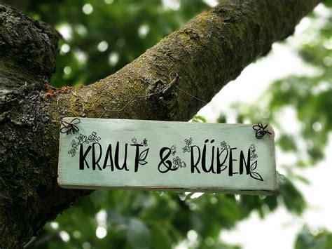 Gartendekoration  Schild Spruch Garten Sprüche Ein