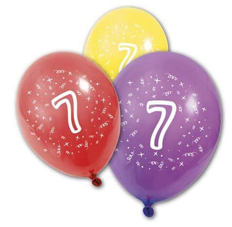 ballon anniversaire 7ans x8 ref ba1007