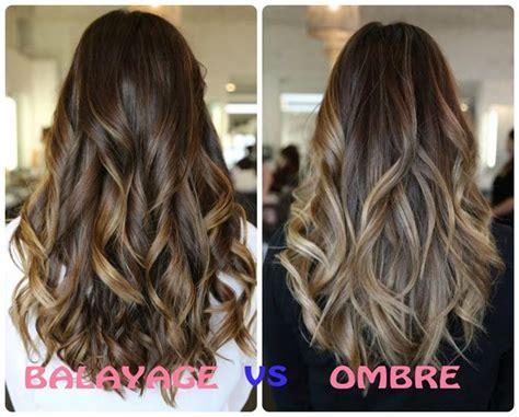 difference  balayage  ombre hair color balayage