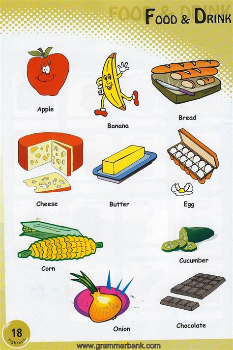 food  drinks picture vocabulary grammarbank