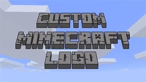 Create Custom Minecraft Logo