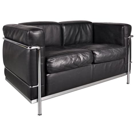 Le Corbusier Loveseat by Lc3 Two Seater Sofa By Le Corbusier For Cassina Italy