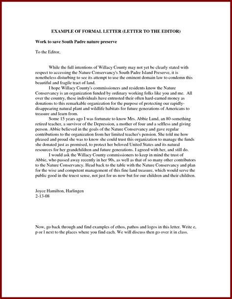 formal letter  editor  newspaper  pollution