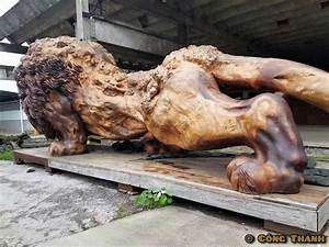 Giant Carved Lion is World's Largest Sculpture Made from