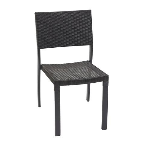 chaise de jardin en résine tressée chaise de jardin en résine tressée gris anthracite leroy merlin