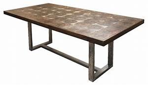 - Bromley Rustic Timber Oak Chunky Wood Iron Rectangle