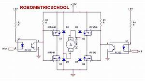 Electronic Circuit Dc Motor Driver Using H