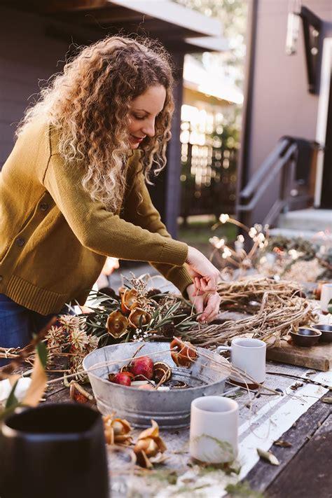 diy winter wreath workshop diy crafts  adults