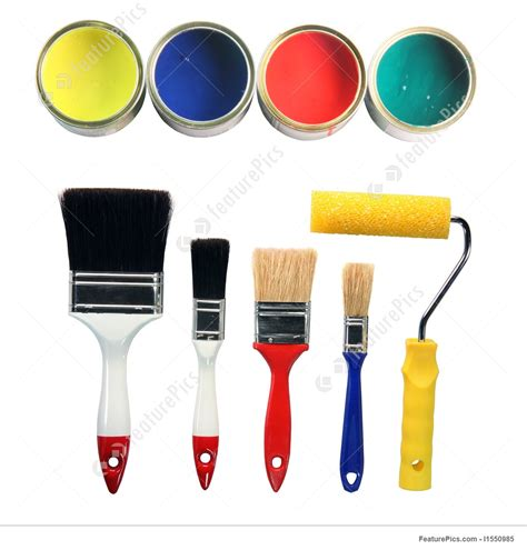 image of paint colors and tools