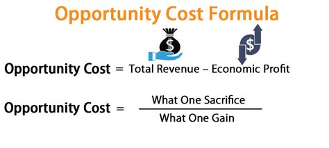 opportunity cost formula calculator excel template