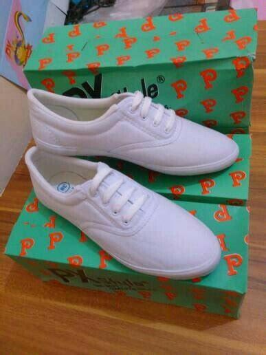 jual sepatu kanvas polos putih px style tali sepatu lukis