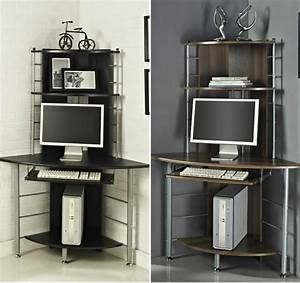 Corner, Desk, Home, Office, Work, Station, With, Keyboard, Shelf, Mdf, Computer, Table, New