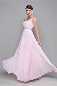 Robe Rose Pale Demoiselle D Honneur : robe de demoiselle d 39 honneur rose longue avec bretelle ~ Preciouscoupons.com Idées de Décoration