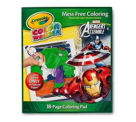 Crayola color wonder avengers 18 page book and markers ...