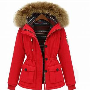 Parka A Fourrure Femme : manteau femme parka hiver fourrure avec capuche rouge achat vente manteau caban soldes ~ Nature-et-papiers.com Idées de Décoration