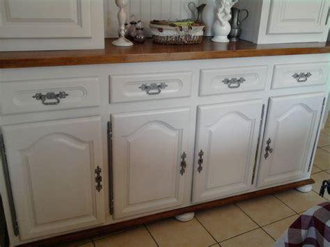 meuble de cuisine repeint buffet cuisine en bois armoire de cuisine 3 portes 2