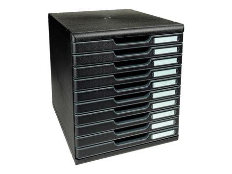 bloc de classement bureau exacompta ecoblack bloc de classement à tiroirs 10