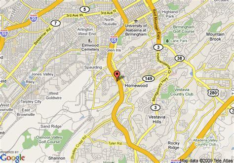 homewood alabama map of residence inn homewood birmingham