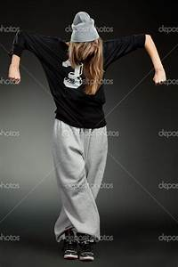 Hip Hop Clothes for Girls   Stylish hip hop girl — Stock ...