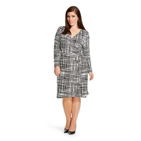 womens  size knit wrap dress ava viv target