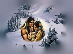 Native American Couple with Wolf Facebook Timeline Cover ...