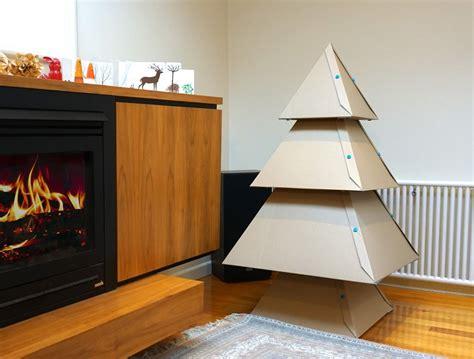how to make a cardboard christmas tree makedo cardboard