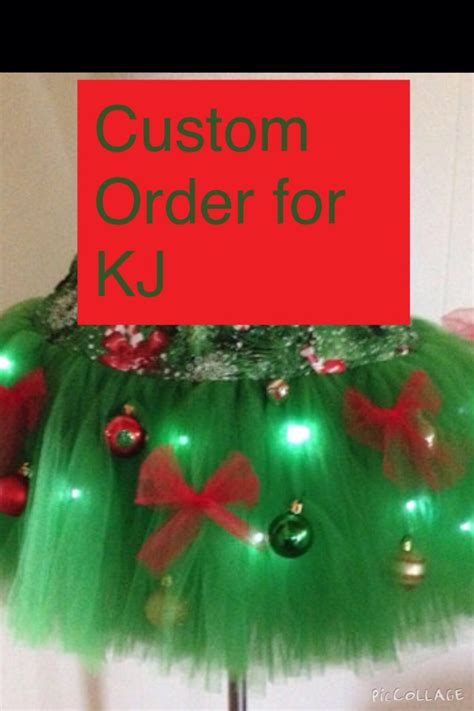 custom order for kj adult large christmas tree decorated tutu