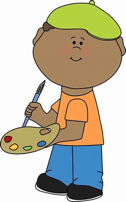 Boy Clip Class Artist Graphics Clipart