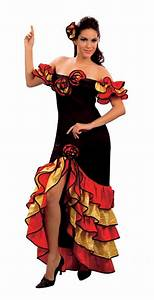 rumba woman spanish flamenco dancer costume all ladies With robe cubaine