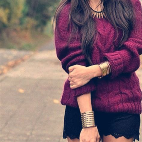 Sweater purple girl style fashion - Wheretoget