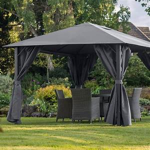Gazebo Replacement Canopy Only Provence 3x4 Graphite Grey
