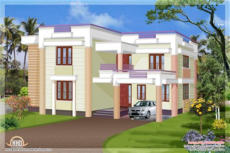 1957 square feet flat roof house kerala home design and floor plans