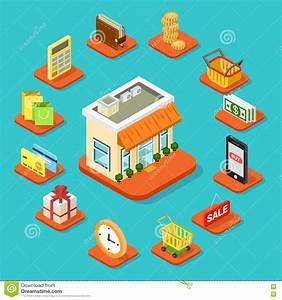 Set Online Shop : shop store building shopping infographic icon flat 3d isometric stock photo image 71782091 ~ Orissabook.com Haus und Dekorationen