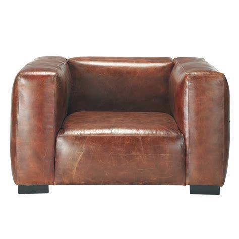 maison du monde canapé cuir fauteuil en cuir marron maisons du monde