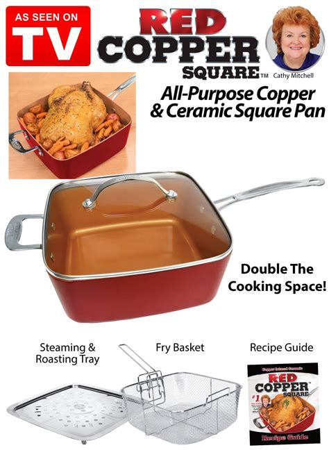 red copper  piece cookware set    tv carolwrightgiftscom