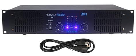 1000 Watt Pro Torque Audio 2 Ch Dj / Live Sound Rack Mount