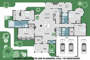 4bhk, Luxury, Villa, Design, Floor, Plans, Type
