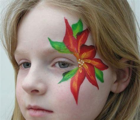 gesicht schminken kinder kinderschminken blumen im gesicht kinderschminken weihnachtssterne und painting
