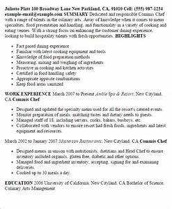 1 commis chef resume templates try them now With how to write a chef resume